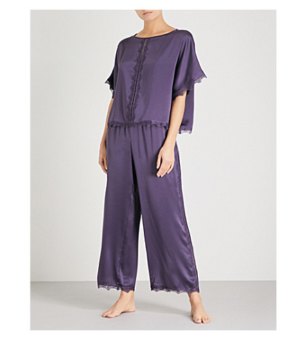 NK IMODE Ulrika silk-satin pyjama set (Ink