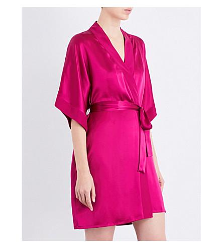 NK IMODE Living-wear silk-satin robe (Magenta