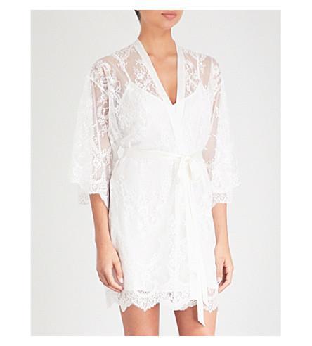 NK IMODE Sheer Delight floral-lace kimono robe (Ivory