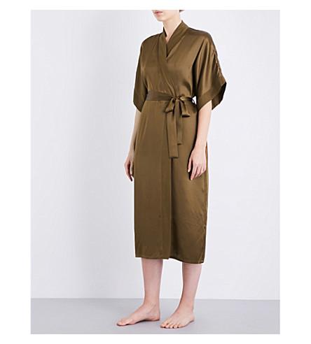 NK IMODE Living-wear silk-satin robe (Bronze
