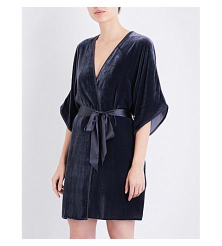 NK IMODE Tie-belt velvet robe (Opium