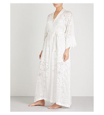 NK IMODE Thassia floral silk-satin robe (Cloud