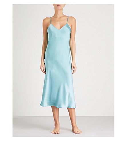 NK IMODE Living-wear silk-satin nightdress (Seabreeze