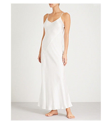 NK IMODE Thassia silk-satin nightdress (Cloud