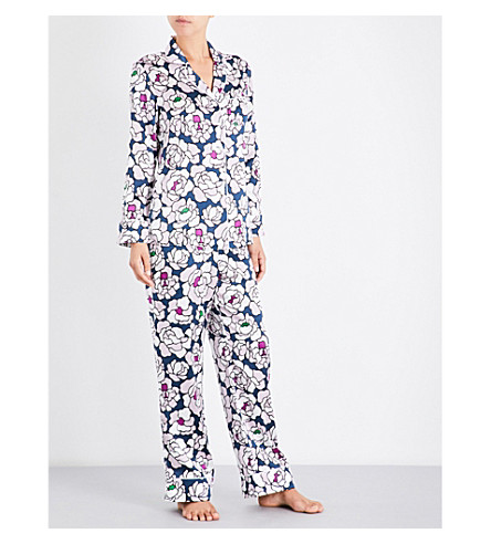 OLIVIA VON HALLE Lila Roxanne silk-satin pyjama set (Roxanne