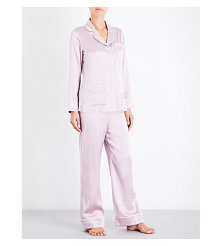 OLIVIA VON HALLE Coco Amethyst silk-satin pyjama set (Amethyst