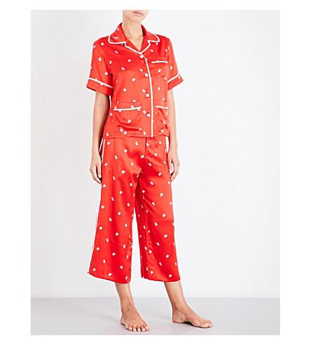 OLIVIA VON HALLE Daria Cindy silk-satin pyjama set (Cindy