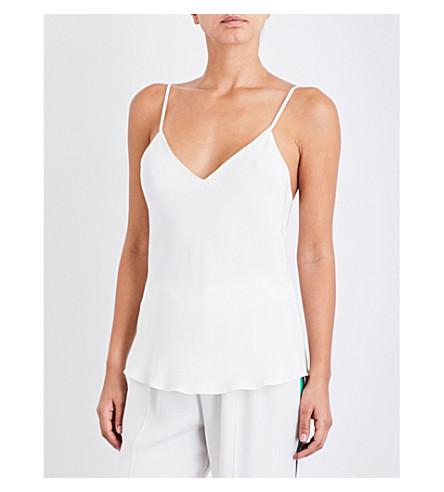 OLIVIA VON HALLE Lily V-neck silk top (Ivory