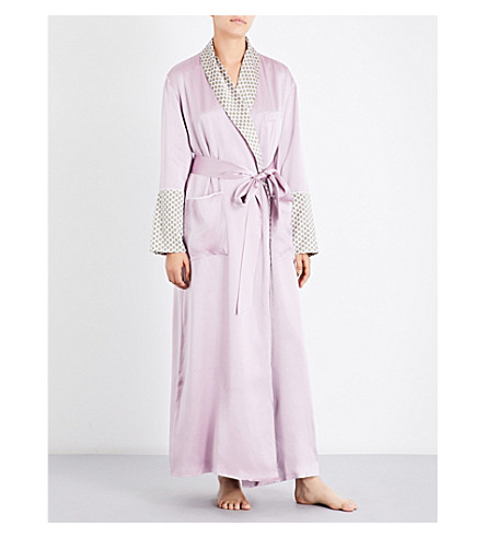 OLIVIA VON HALLE Capability Six silk-satin dressing gown (Six