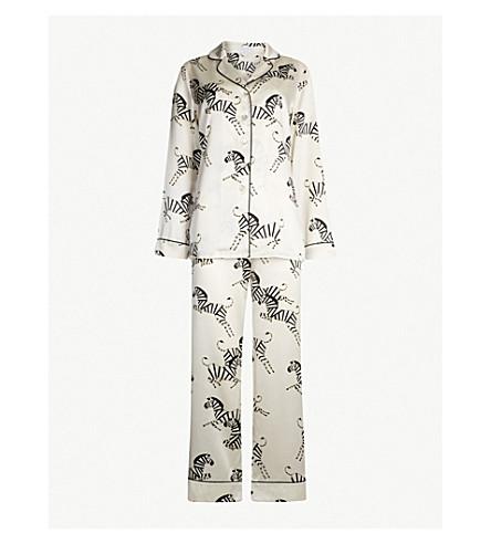 OLIVIA VON HALLE Zebedee silk-satin pyjama set (Zebedee
