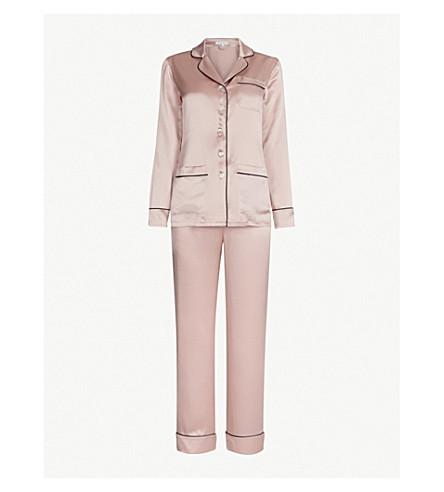 OLIVIA VON HALLE Coco silk pyjama set (Oyster 19