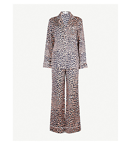 OLIVIA VON HALLE Lila Raelyn silk-satin pyjama set (Leopard print