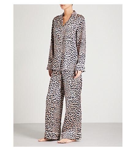 OLIVIA VON HALLE Lila Raelyn silk-satin pyjama set (Leopard+print
