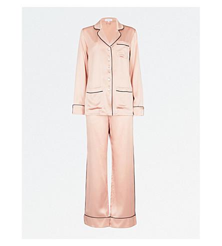 OLIVIA VON HALLE Coco silk-satin pyjama set (Oyster