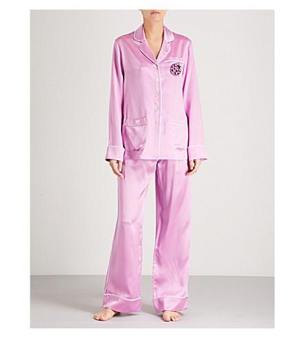 OLIVIA VON HALLE Coco silk-satin pyjama set (Candy+pink
