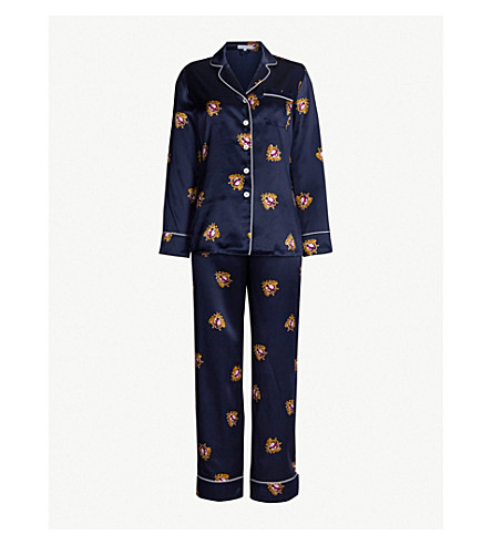 OLIVIA VON HALLE Lila Clyde silk pyjama set (Clyde