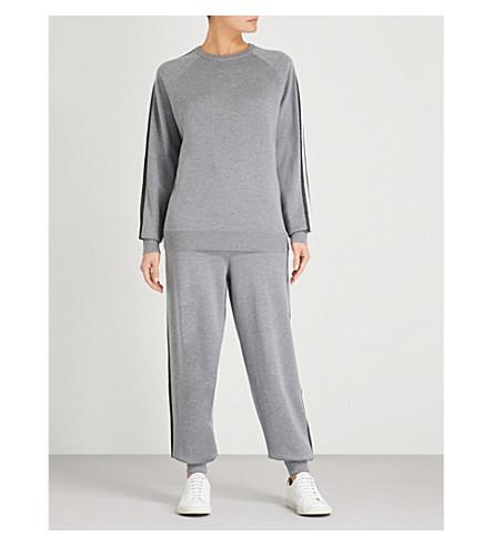 OLIVIA VON HALLE侧条丝混纺运动服 (灰色