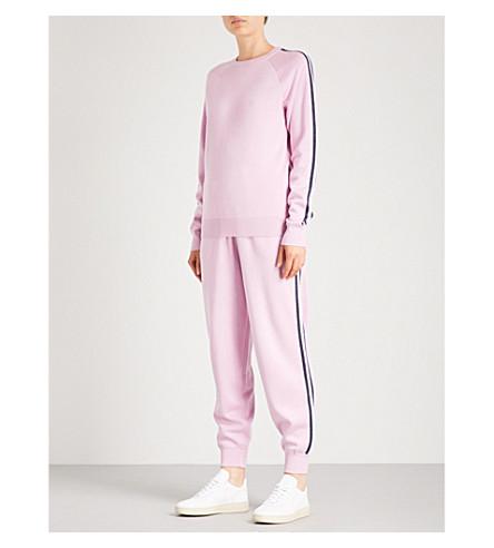 OLIVIA VON HALLE Missy Malibu silk-blend tracksuit (Candy+pink