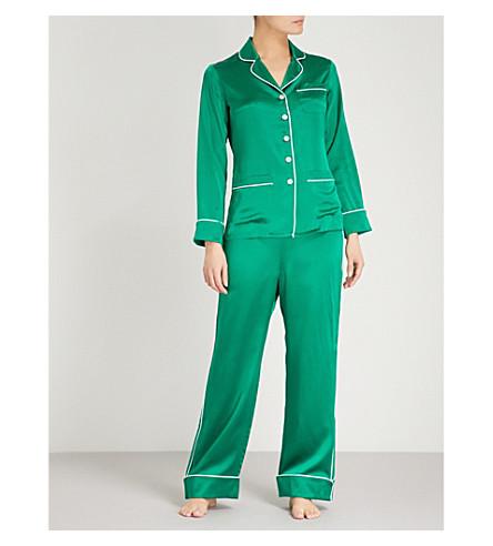 OLIVIA VON HALLE Coco silk-satin pyjama set (Mamba