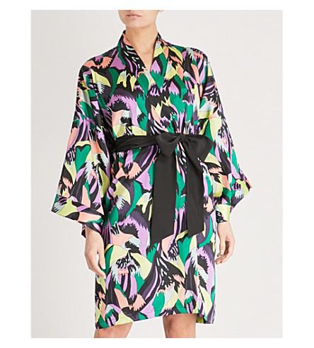 OLIVIA VON HALLE Mimi silk-satin short robe (Apollo