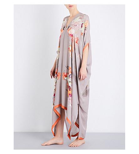 MENG Floral-print silk-chiffon kaftan (Earth