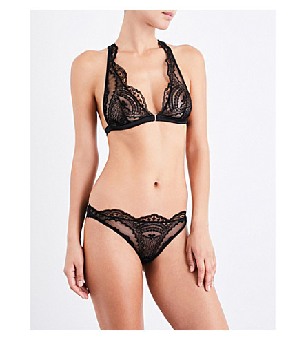 ID SARRIERI Juliette Dans la Nuit stretch-lace triangle bra (Black