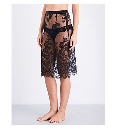 ID SARRIERI Noir Comme la Robe Chantilly lace slip skirt (Noir+comme