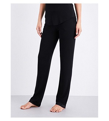 ID SARRIERI Café Créme stretch-jersey pyjama bottoms (Black