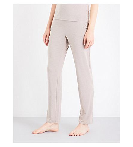 ID SARRIERI Satin-trim stretch-jersey trousers (Cafe+au+lait