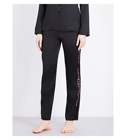 ID SARRIERI Macaroon Delights silk-blend pyjama bottoms (Black
