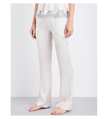 CARINE GILSON Straight silk-satin pyjama bottoms (Nacre