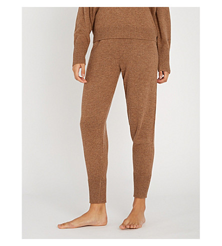 LOVE STORIES Jimmy knitted jogging bottoms (800-brown