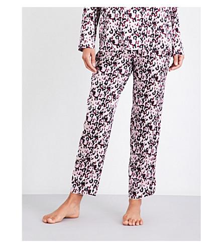 YOLKE Camo-print stretch-silk pyjama bottoms (Camo+dusk