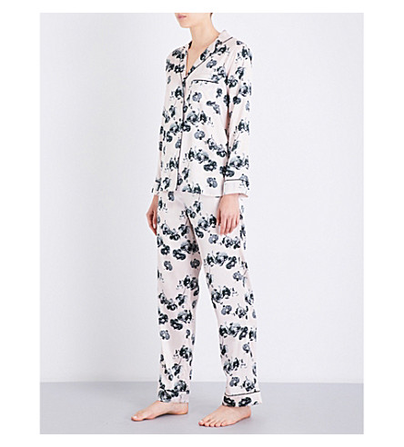 YOLKE Orchid silk-satin pyjama set (Orchid+alpine