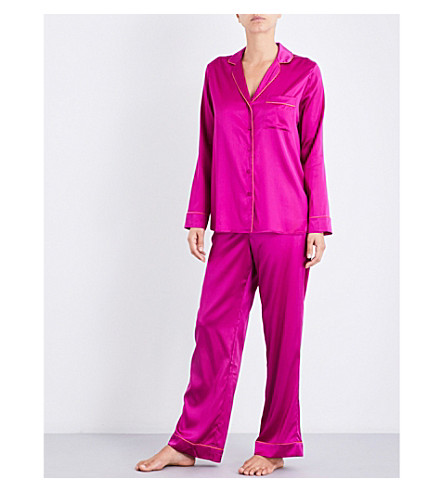 YOLKE Boysenberry silk-satin pyjama set (Boysenberry
