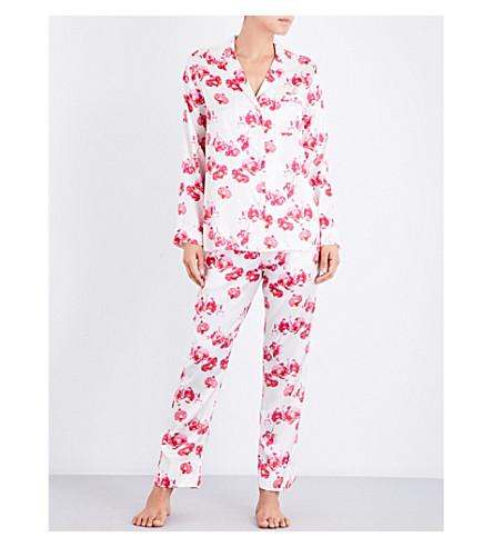YOLKE Orchid silk-satin pyjama set (Orchid+cherry