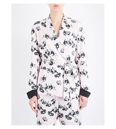 YOLKE Orchid-print silk jacket (Orchid+alpine