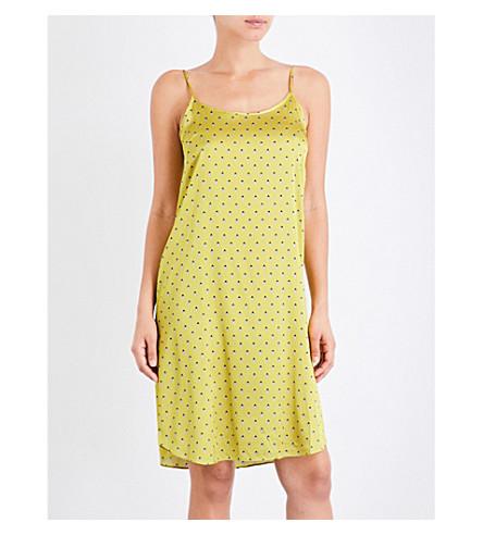 YOLKE Ladybird silk-satin slip dress (Ladybird+celery