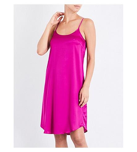 YOLKE Boysenberry silk-satin slip dress (Boysenberry