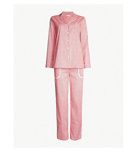 YOLKE Scallop-print cotton pyjama set (Scallop poppy red rose
