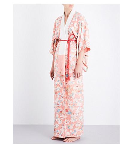 KISSHOTEN Sakura Heaven silk-jacquard kimono robe (Sakura+heaven