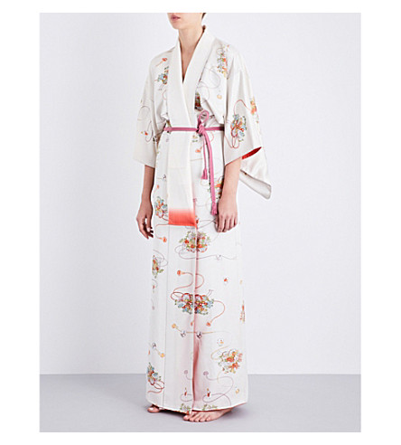 KISSHOTEN Royal Buddha silk-jacquard kimono robe (Royal+budha
