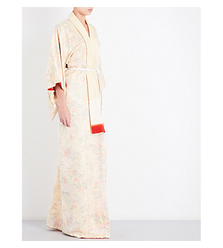 KISSHOTEN The Royal Carriage silk-brocade kimono robe (The+royal+carriage