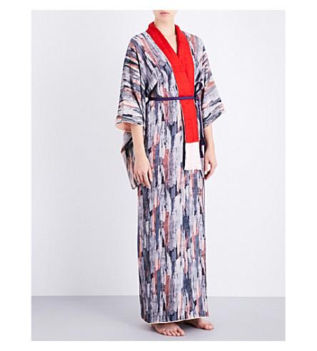 KISSHOTEN The Stone silk kimono robe (The+stone