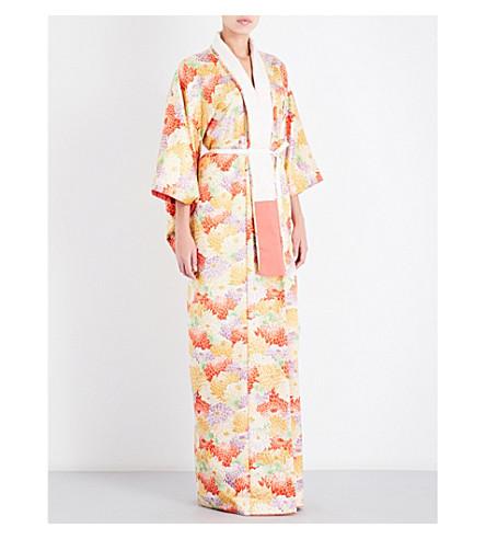 KISSHOTEN Peony queen floral silk-brocade kimono robe (Peony+queen