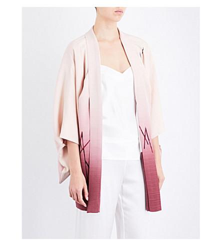 KISSHOTEN Pink ombre silk kimono robe (Pink+ombre