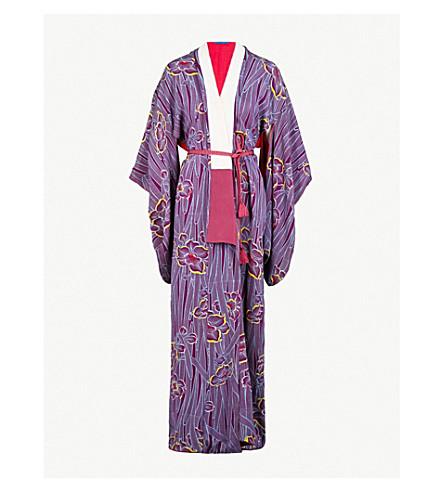 KISSHOTEN Blowing Petals silk kimono robe (Blowing+petals