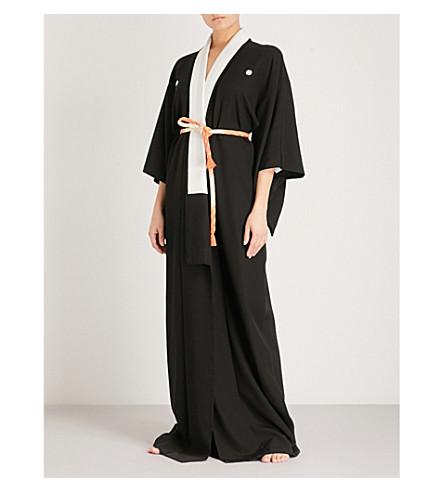 KISSHOTEN Heaven silk kimono (Black+heaven