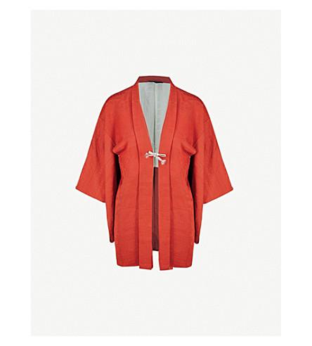 KISSHOTEN Orange Fever silk kimono (Orange+fever