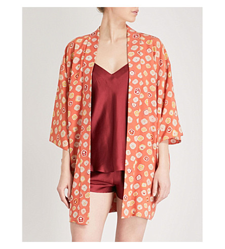 KISSHOTEN Spring Feelings silk kimono (Spring+feelings
